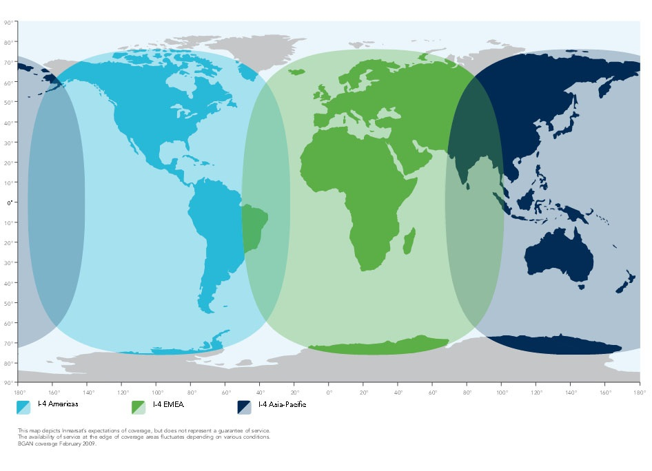 Satellite ISAT Products Coverage - Today satellite image of world