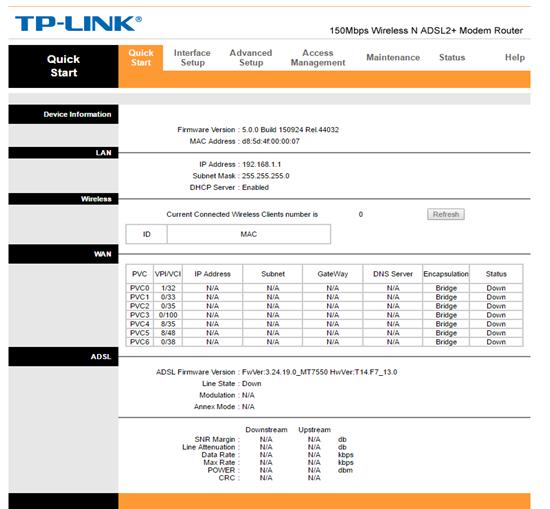 ADSL Setup (TP-Link TD-W8968 Router)