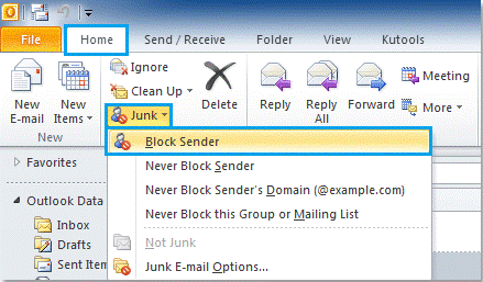 How To Block Email From Outlook How to block email in