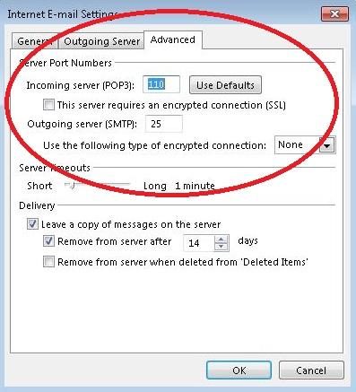 how to change outlook outgoing mailbox scanning